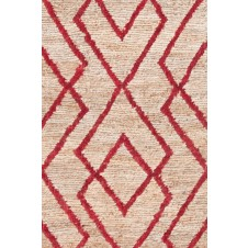dash & albert marco red jute soumak woven rug