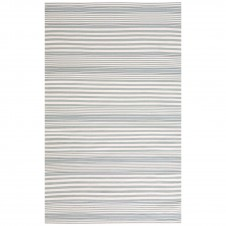 dash & albert rugby stripe light blue indoor/outdoor rug
