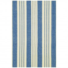 dash & albert staffordshire stripe woven cotton rug
