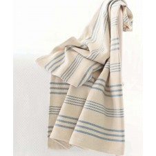 dash & albert swedish stripe woven cotton throw