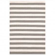 dash & albert trimaran stripe fieldstone ivory indoor/outdoor