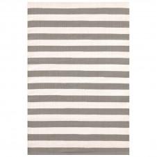dash & albert trimaran stripe fieldstone ivory indoor/outdoor
