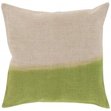 surya dip dyed pillow in grass green