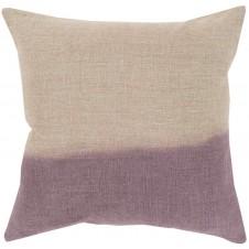 surya dip dyed pillow in mauve