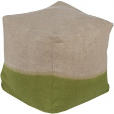 surya dip dyed pouf in grass green