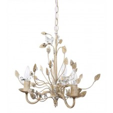 glass birds chandelier, cream