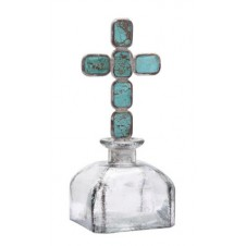 turquoise cross bottle small
