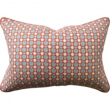 delilah coral bolster pillow