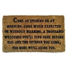 come at evening doormat
