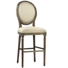 weathered oak bar stool