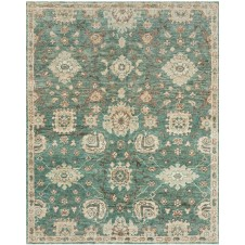 empress collection aqua & beige rug