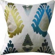 exuberance teal pillow