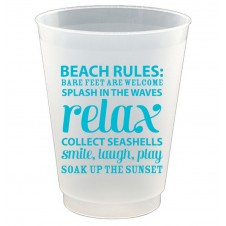 beach rules frost flex cups set of 8