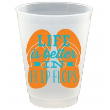 life in flip flops frost flex cups set of 8