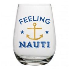 feeling nauti stemless wine glass