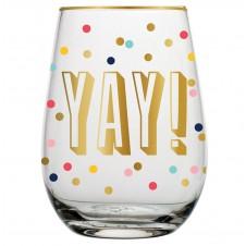 yay! stemless wine glass