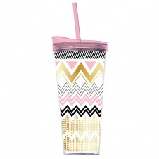 be brave chevron double-wall tumbler