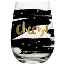 cheers stemless wine glass