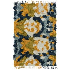 fable collection marine & gold rug