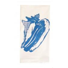 conch shell flour sack towel