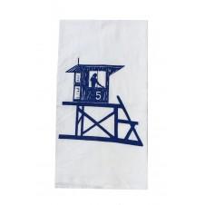 lifeguard shack flour sack towel