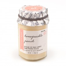 paddywax honeysuckle peach 8 oz. farm to table candle
