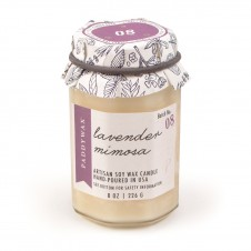 paddywax lavender mimosa 8 oz. farm to table candle