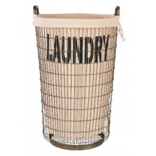 aidan gray wire laundry basket with liner