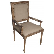 noir regency arm chair