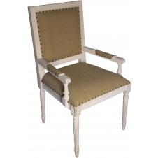 noir regency arm chair