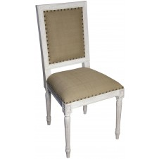 noir regency side chair