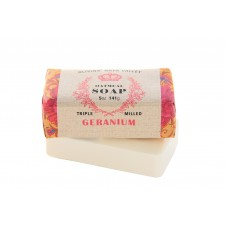 olivina geranium oatmeal bar soap