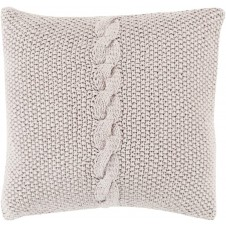surya genevieve pillow in light gray