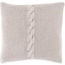 surya genevieve pillow in light gray