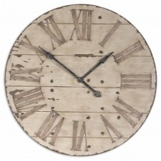 uttermost harrington wooden wall clock