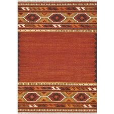 isara collection red & gold rug