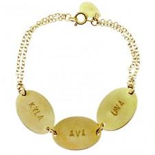 """oval coin """"identity"""" bracelet"""