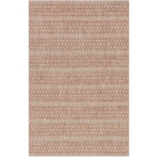 isle collection beige & rust lattice polypropylene rug