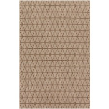 isle collection beige & mocha polypropylene rug