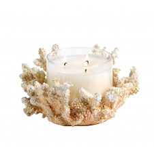 coral scented candle jar