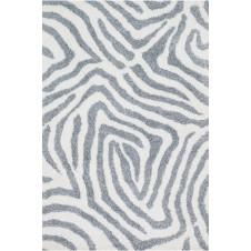 kiara shag collection ivory & grey rug