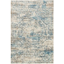 kingston collection ivory & blue rug