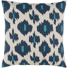surya kantha navy & wheat pillow