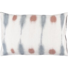 surya kumo rose & grey bolster pillow