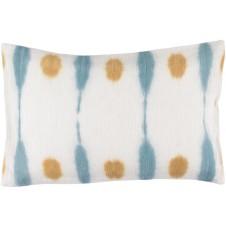 surya kumo saffron & sky blue bolster pillow