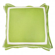 lacefield lime linen pillow with natural twill tape