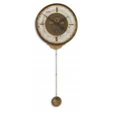 uttermost leonardo chronograph cream wall clock