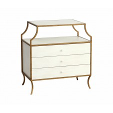 redford house milla side table w/drawers