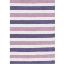 lola shag collection plum & lilac striped rug