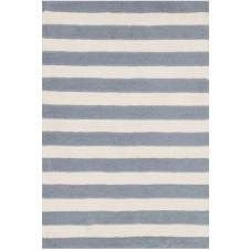 lola shag collection slate & ivory striped rug